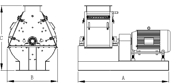 wide chammber hammer mill