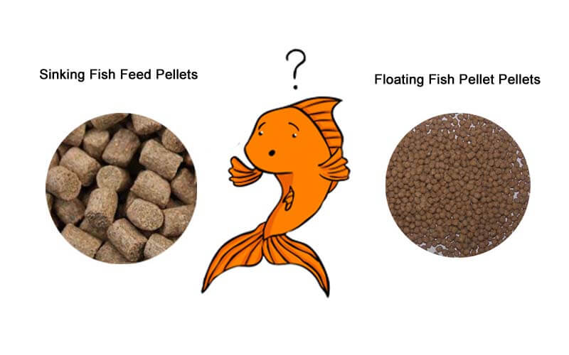 Floating or Sinking Fish Feed Pellets