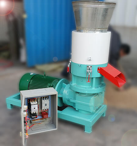 electric flat die pellet mill