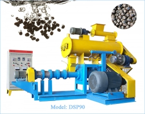 model dsp90 wet type fish feed extruder